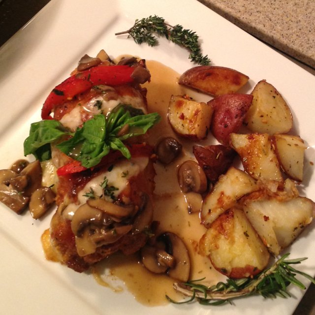 Stuffed Chicken Marsala – created on the CHEF CHEF app for iOS