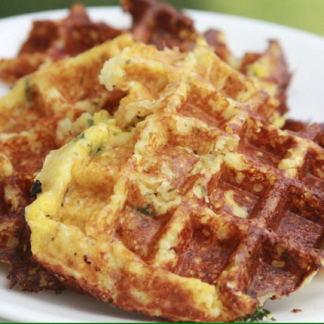Savory Cheese Chive Waffles –created on the CHEF CHEF app for iOS