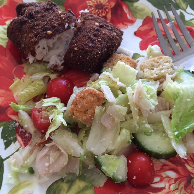 Fried Fish with Garden Salad