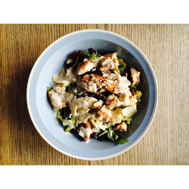 Cæsar salat med Cæsardressing