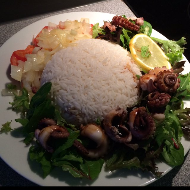 Sweet baby octopus w/ salad – created on the CHEF CHEF app for iOS