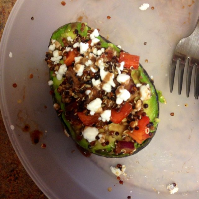 Spicy Quinoa Stuffed Avocado –created on the CHEF CHEF app for iOS