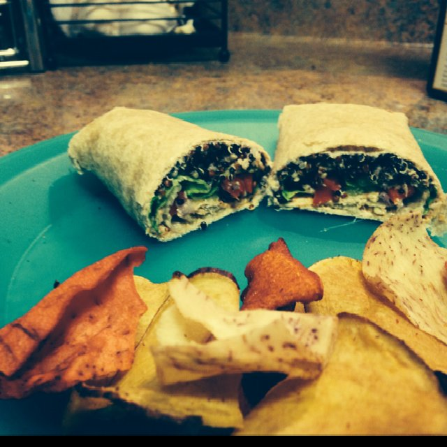 Low Cal Veggie Wrap –created on the CHEF CHEF app for iOS