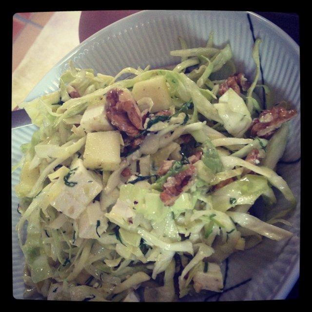 Fennikel-spidskål-salat m/dild