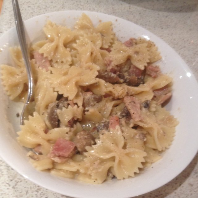 Creamy Pasta Carbonara  – created on the CHEF CHEF app for iOS