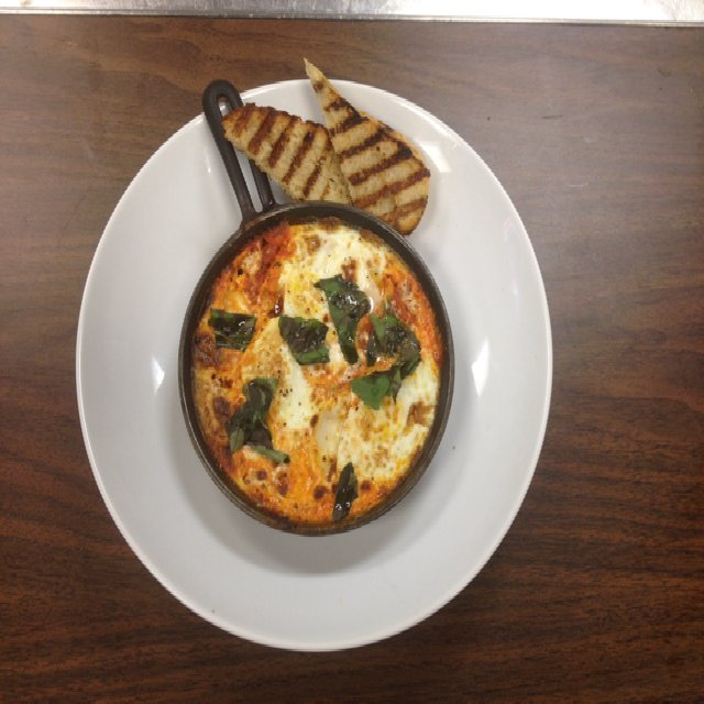 Baked Eggs Marinara  – created on the CHEF CHEF app for iOS