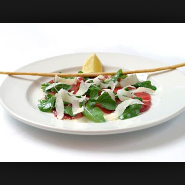 Classic beef carpaccio –created on the CHEF CHEF app for iOS