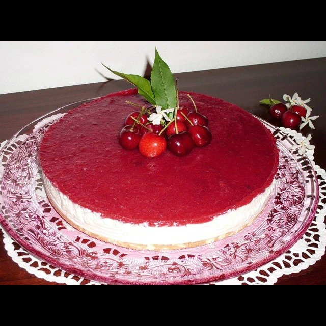 No-bake cherry cheesecake – created on the CHEF CHEF app for iOS