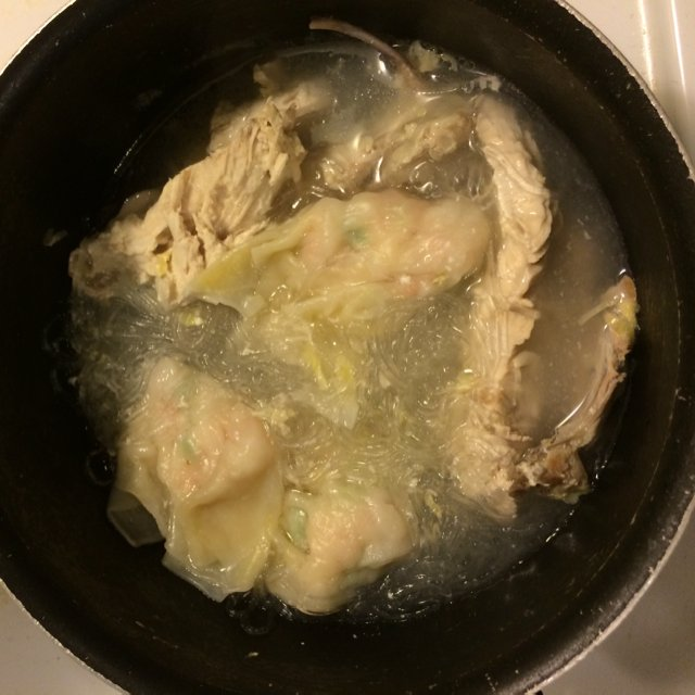 Wonton chicken soup – created on the CHEF CHEF app for iOS