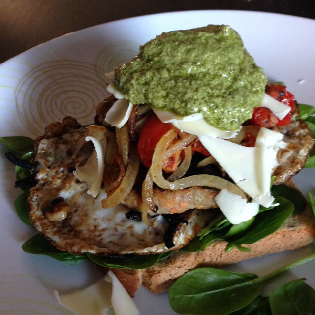 Open Chicken Burger  –created on the CHEF CHEF app for iOS