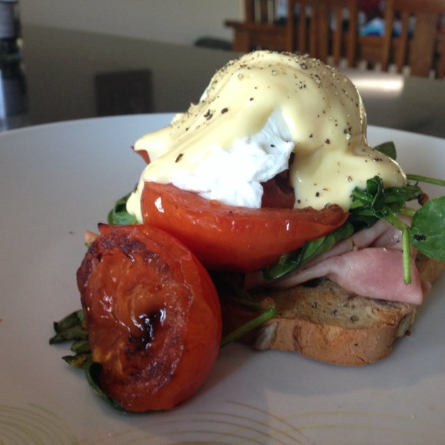 Healthy Eggs Benedict  – created on the CHEF CHEF app for iOS
