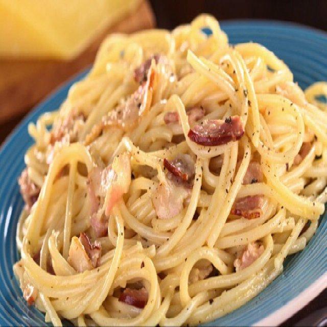 Spaghetti Alla Carbonara: –created on the CHEF CHEF app for iOS