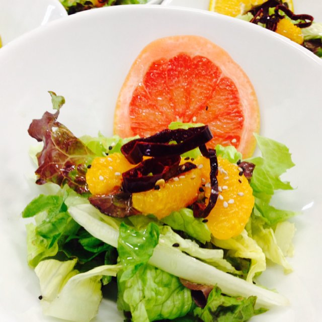 Grapefruit w/Fried Chili Salad