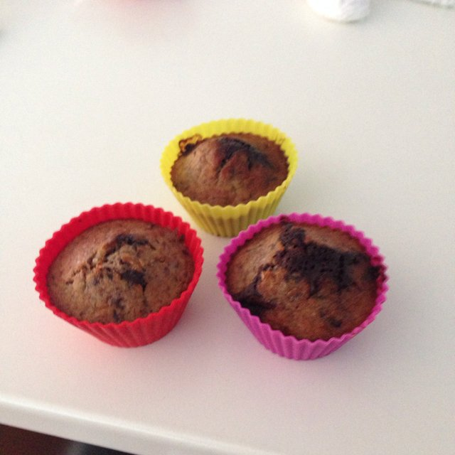 Chokolade-banan muffins – created on the CHEF CHEF app for iOS