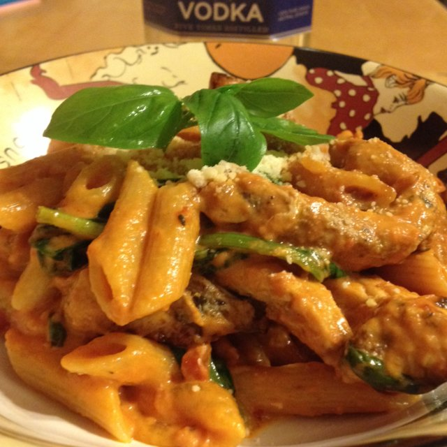 Penne Vodka with Chicken – created on the CHEF CHEF app for iOS