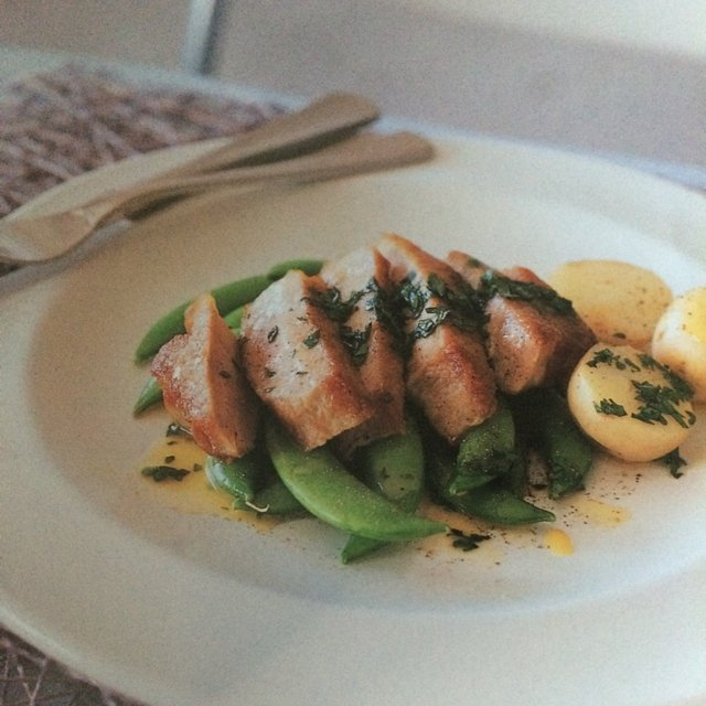 Pork w/ White Wine Sauce  – created on the CHEF CHEF app for iOS