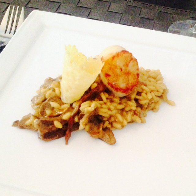 Funghi risotto with scallop – created on the CHEF CHEF app for iOS