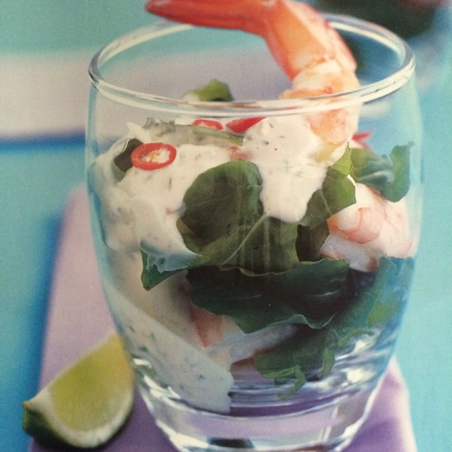 Prawn & Lime Aioli Cocktail  –created on the CHEF CHEF app for iOS