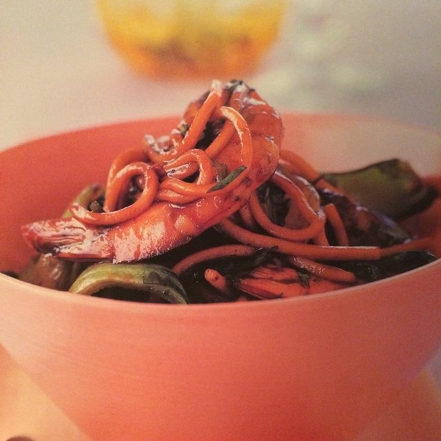 Hokkien Noodles with Prawns –created on the CHEF CHEF app for iOS