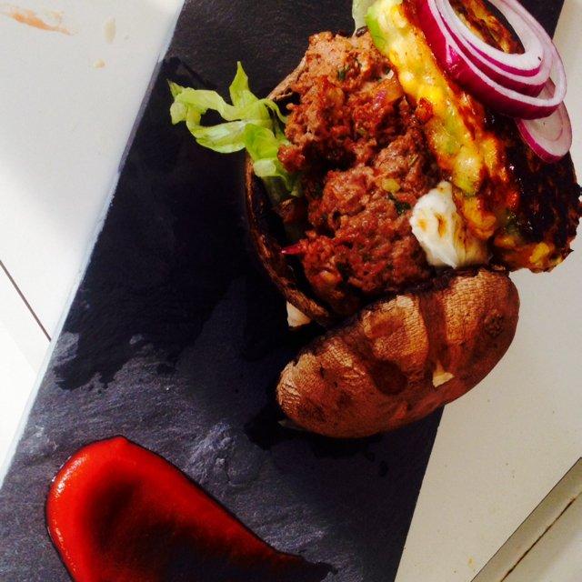 Portobello burger –created on the CHEF CHEF app for iOS