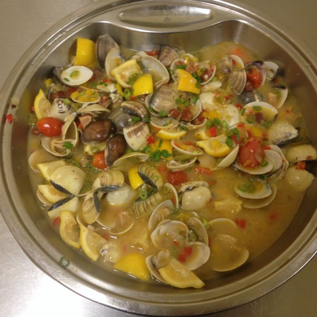 Pancetta Clams –created on the CHEF CHEF app for iOS