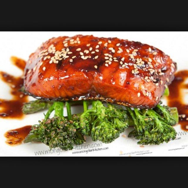 Teriyaki salmon –created on the CHEF CHEF app for iOS