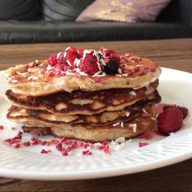 Proteinpandekager med banan –created on the CHEF CHEF app for iOS