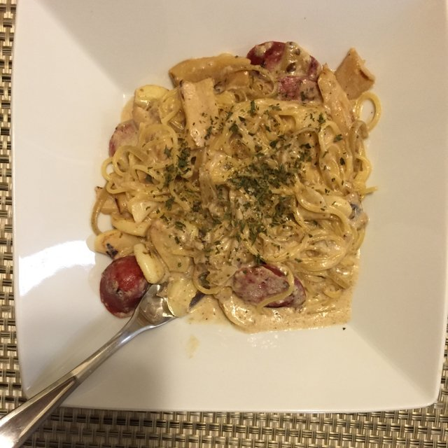 Gorgonzola pasta –created on the CHEF CHEF app for iOS