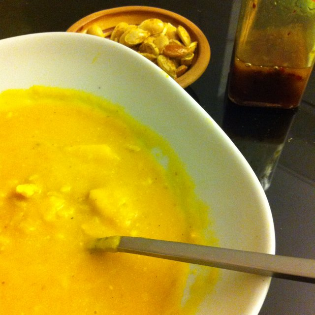 Græskarsuppe med karry – created on the CHEF CHEF app for iOS