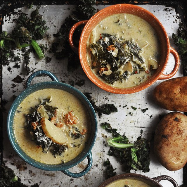 Spicy sausage and kale soup –created on the CHEF CHEF app for iOS