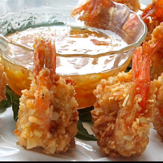 Coconut shrimp orange dip
