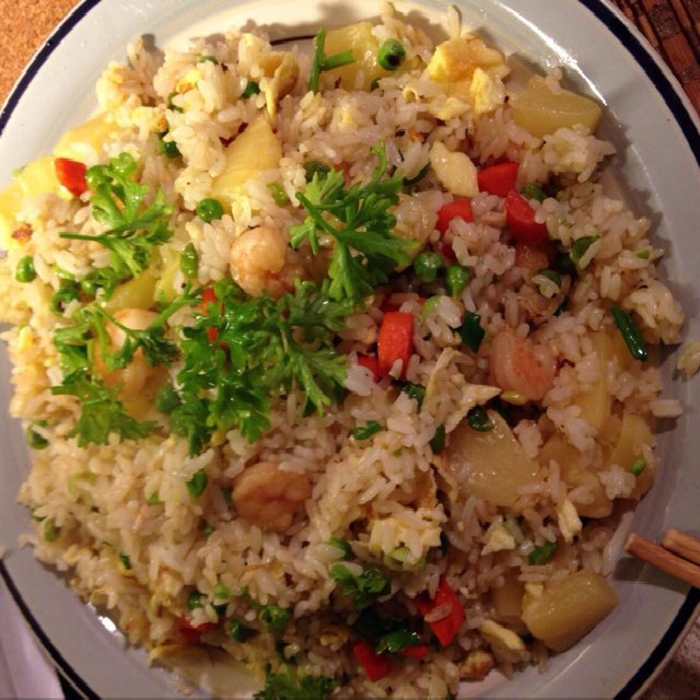 Pineapple, shrimp fried rice –created on the CHEF CHEF app for iOS