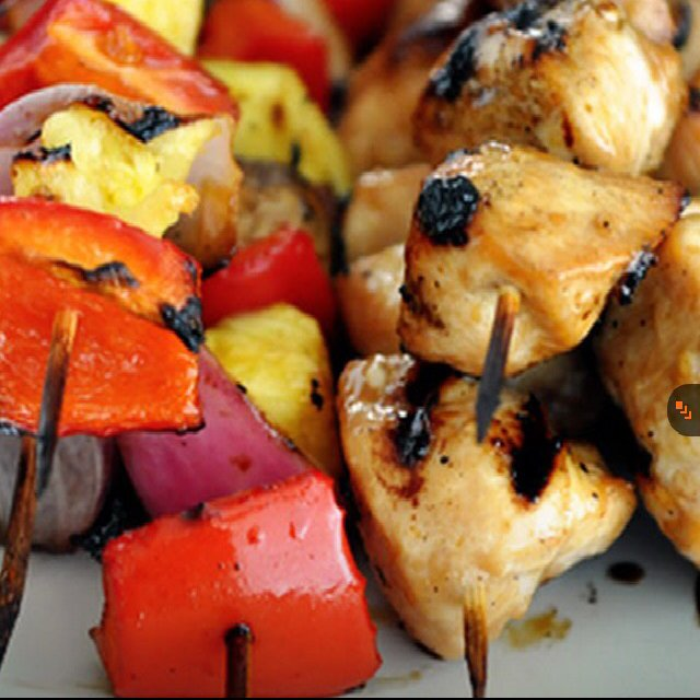 Honey, Chicken, & Veggie Kabob –created on the CHEF CHEF app for iOS