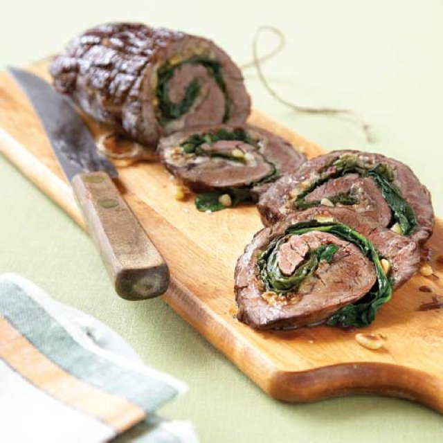 Steak Roll with Garlic Spinach –created on the CHEF CHEF app for iOS
