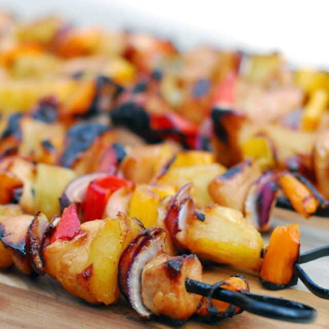 Pineapple Chicken Kebabs – created on the CHEF CHEF app for iOS