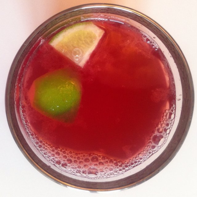 Warm cranberry/lime/ginger  –created on the CHEF CHEF app for iOS