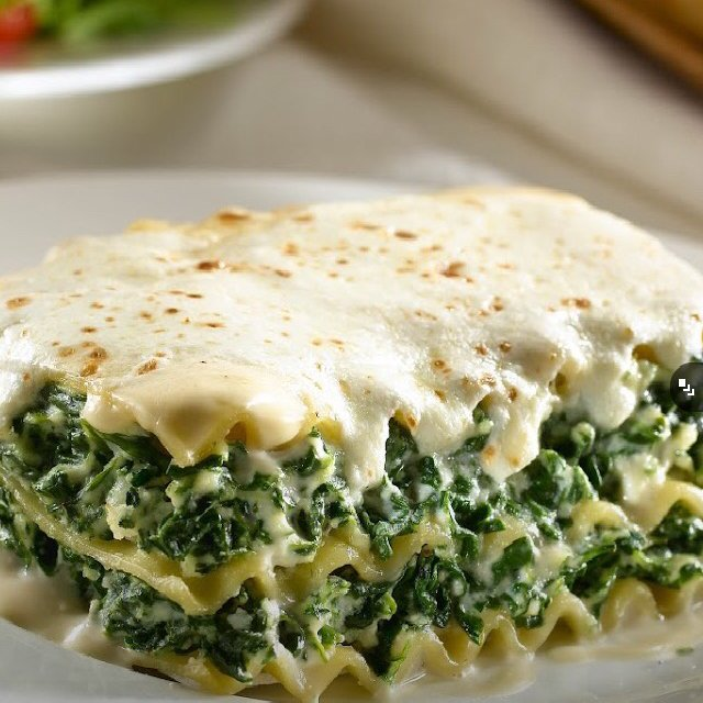 Alfredo Florentine Lasagna – created on the CHEF CHEF app for iOS