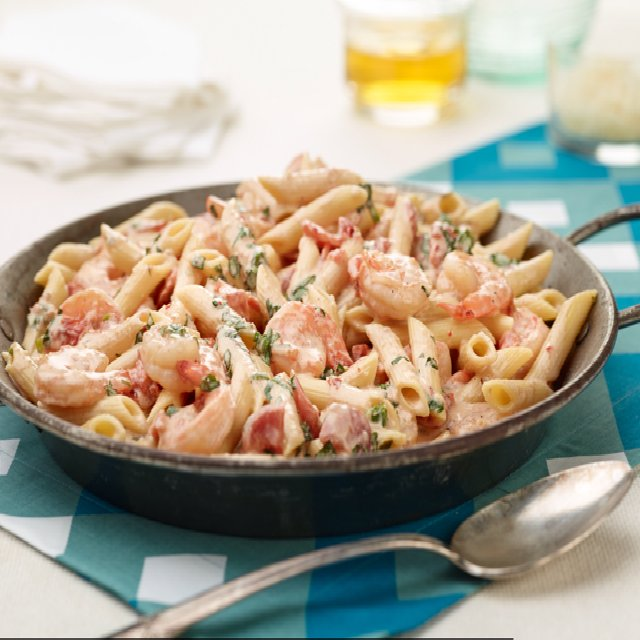 Penne with shrimp and herbed  – created on the CHEF CHEF app for iOS