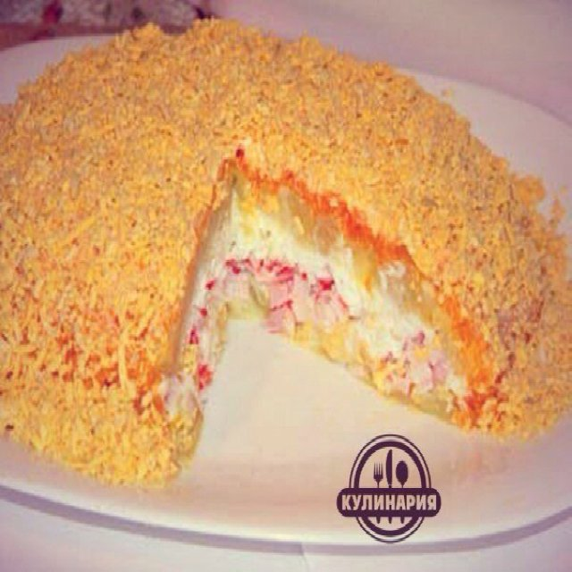 КРАБОВЫЙ СЛОЕНЫЙ САЛАТ –created on the CHEF CHEF app for iOS