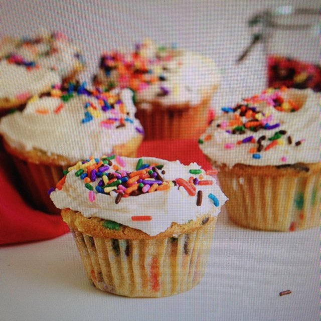 Vegan Funfetti Cupcakes  – created on the CHEF CHEF app for iOS