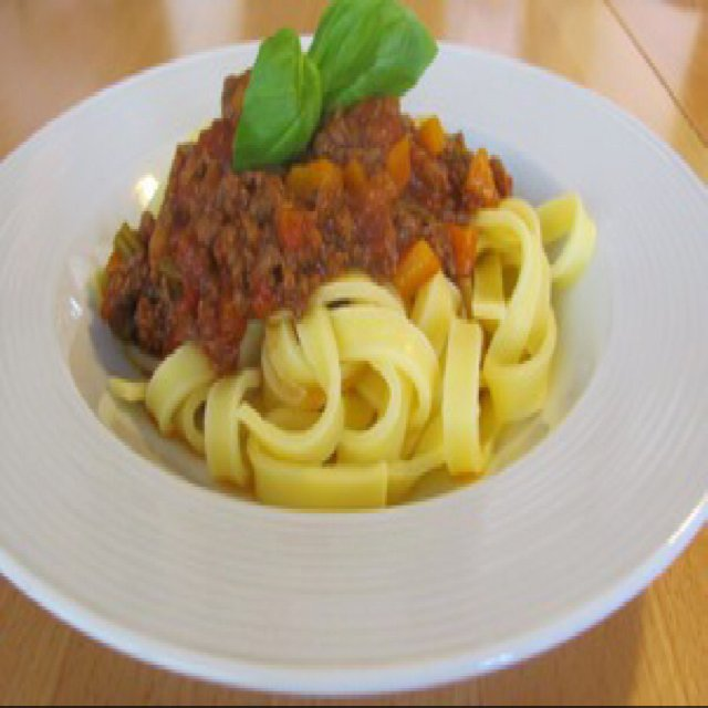 Spaghetti bolognese – created on the CHEF CHEF app for iOS