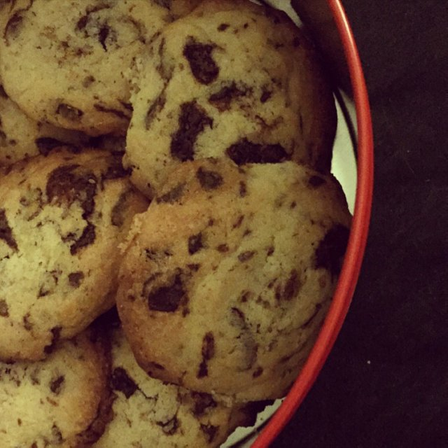Cookies med chokolade –created on the CHEF CHEF app for iOS