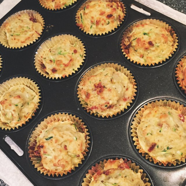 Savory muffins –created on the CHEF CHEF app for iOS