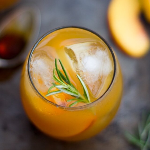 Rosemary peach maple cocktail –created on the CHEF CHEF app for iOS