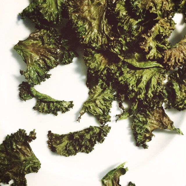 Kale chips / kål chips – created on the CHEF CHEF app for iOS