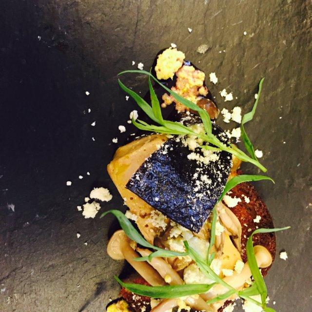 Foie gras - bøgehatte - solbær