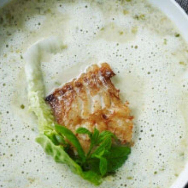 Hjertesalatsuppe med torsk