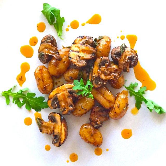 Chestnut Mushroom Herb Gnocchi