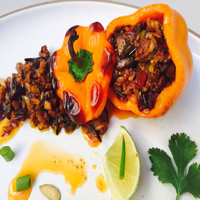 Chorizo & Veg Stuffed Peppers