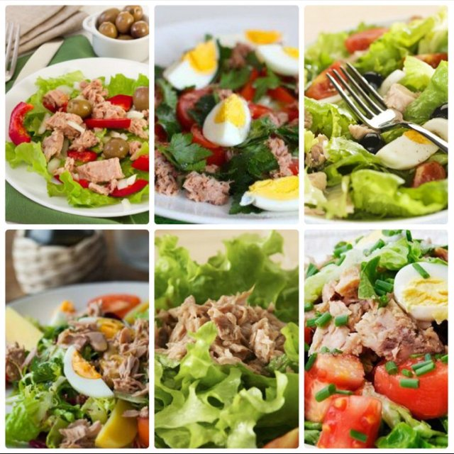 6 салатиков м тунцом